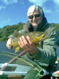 guided trout fishing on loch eye