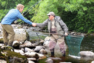 guided salmon fishing on the river alness