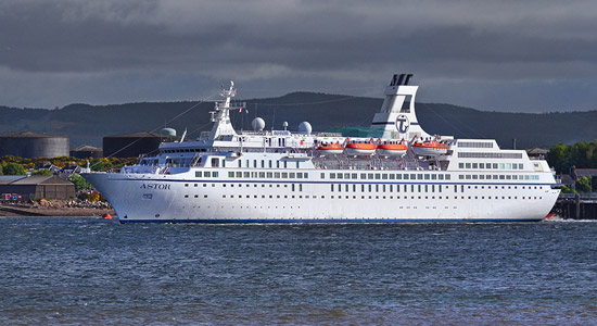 cruise ship at invergordon, ross-shire