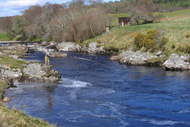 river carron salmon fishing, sutherland, highlands, gledfield