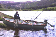 troutquest brown trout fishing, loch morie, alness, ross-shire, trolling for ferox trout