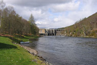 river conon salmon fishing, ross-shire, highlands, upper fairburn