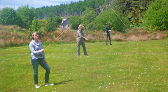 learn to fly fish in the scottish highlands